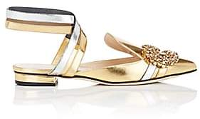 GIANNICO Women's Daphne Leather Ankle-Strap Sandals - Gold