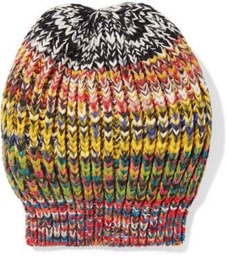 Missoni Crochet-knit Wool-blend Beanie - Yellow