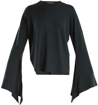 Tibi Slit-side wool-blend knit sweater