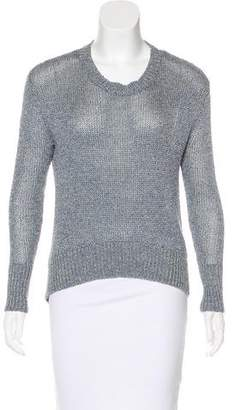 Rachel Zoe Linen Crew Neck Sweater