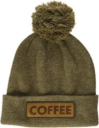 Coal Men's The Vice Fine Knit Cuffed Pom Beanie Hat