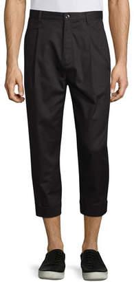 Helmut Lang Single-Pleat Cuffed Trousers, Black