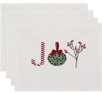 Holiday Essence Oh Joy! Word Print Placemat