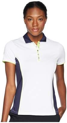 Callaway Color-Blocked Short Sleeve Polo Women's Short Sleeve Pullover