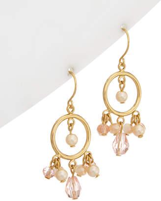 Carolee Gracie Mansion 12K Plated Glass Pearl & Bead Drop Earrings