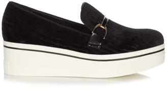 Stella McCartney Binx velvet flatform loafers