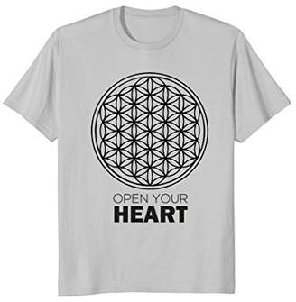 Flower Of Life T-Shirt - Open Your Heart. Sac Geometry