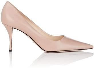 Prada Women's Curved-Heel Leather Pumps