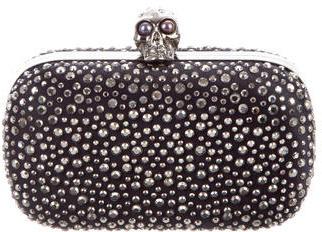 Alexander McQueenAlexander McQueen Crystal Embellished Skull Box Clutch