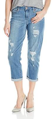 Liverpool Jeans Company Women's Corey Cropped Boyfriend Super Comfort Vintage Stretch Denim