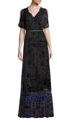 Elie Tahari Charlize Velvet Burnout Maxi Dress $598 thestylecure.com