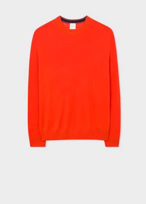 Paul Smith Men's Poppy Red Crew-Neck Merino Wool Sweater