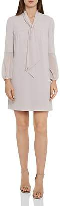 Reiss Ronda Tie-Neck Shift Dress