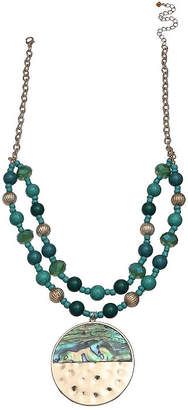 MOP MIXIT Mixit Teal Womens Pendant Necklace