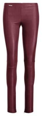 Ralph Lauren Leather Skinny Pant Cabernet Xs