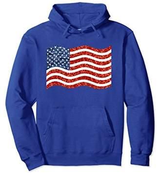 American Flag Hoodie 4th July Patriotic Hoody Sweatshirt