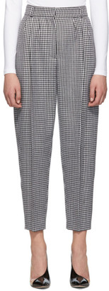 Alexander McQueen Black and White Dogtooth Peg Trousers