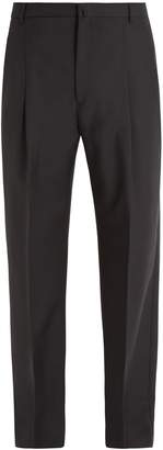Acne Studios Kalnar straight-leg wool-blend trousers