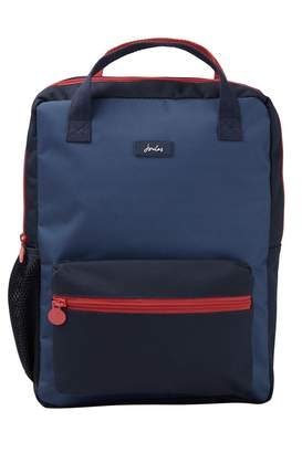 Joules Boys Blue Easton Printed Backpack - Blue