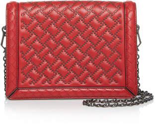 Bottega Veneta Mini Montebello Microstud Leather Shoulder Bag