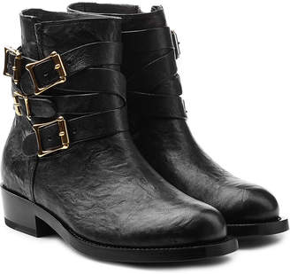 Rupert Sanderson Leather Ankle Boots with Buckled Straps