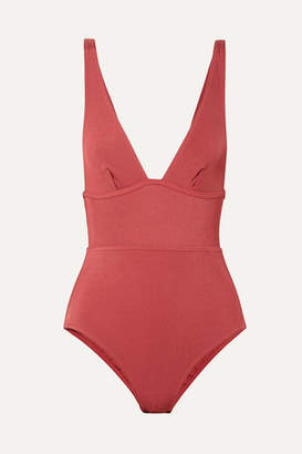 Zimmermann Ribbed Swimsuit - Coral