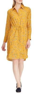 Lauren Ralph Lauren Floral Crepe Shift Shirtdress