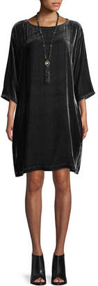 Eileen Fisher Short Velvet Shift Dress, Petite
