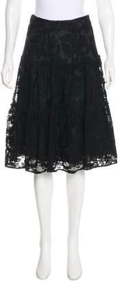 CH Carolina Herrera Embroidered Lace Skirt