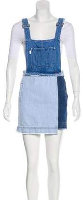 Sjyp Denim Jumper Dress