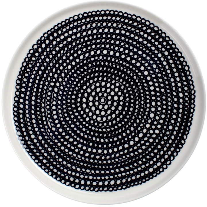 Oiva Räsymatto Teller, Ø 20 cm, weiß / schwarz