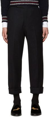 Thom Browne Navy Beltloop Trousers $990 thestylecure.com