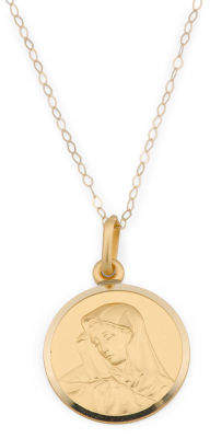 Made In Italy 18k Gold Virgin Mary Necklace