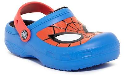 Crocs Spiderman Faux Fur Lined Clog (Little Kid & Big Kid)