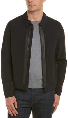 The Kooples Leather-Trim Bomber Jacket