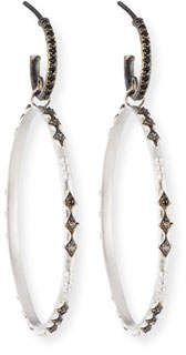 Armenta New World Eternity Hoop Drop Earrings with Diamonds