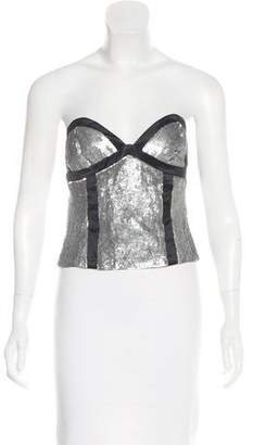 Proenza Schouler Sequined Strapless Crop Top w/ Tags