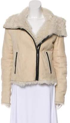 Theory Suede Shearling Jacket