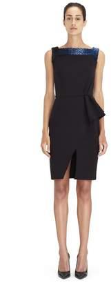 Lanvin Black Embroidered Dress