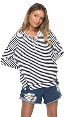 Roxy Women's Wanted and Wild Striped Hooded Sweater