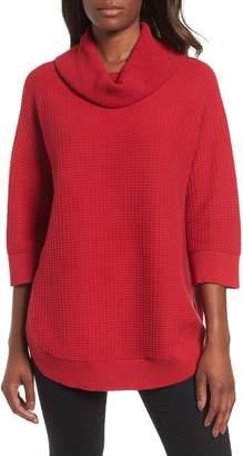 Chaus Cowl Neck Shirttail Hem Sweater