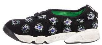 Christian Dior Embellished Round-Toe Sneakers
