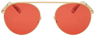 Mykita Gold and Red Studio5.1 Sunglasses