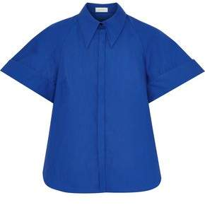 DELPOZO Cotton-Poplin Shirt