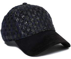 Rag & Bone Suede-Paneled Tweed Baseball Cap