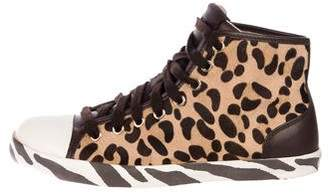Just Cavalli Ponyhair High-Top Sneakers