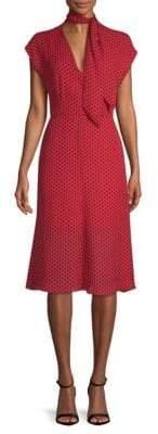Milly Gabby Dot Print Scarf Dress