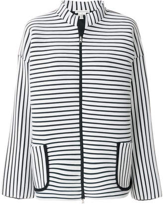 Stefano Mortari striped fitted jacket