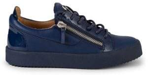 Giuseppe Zanotti Two-Tone Leather Low-Top Platform Sneakers