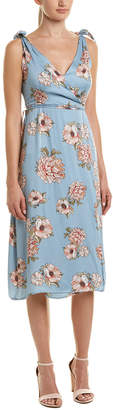 MinkPink Elysium Midi Wrap Dress